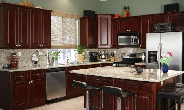 Awesome Cherry Wood Kitchen Cabinets