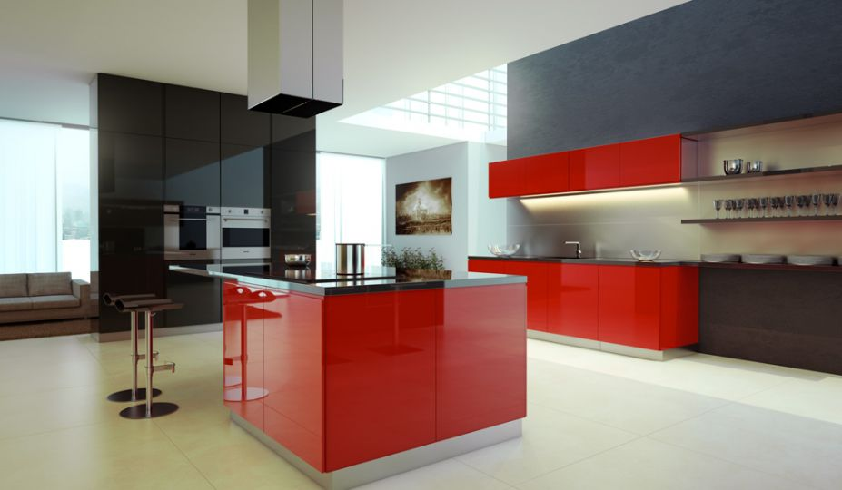 Red Colors For Kitchen Cabinets