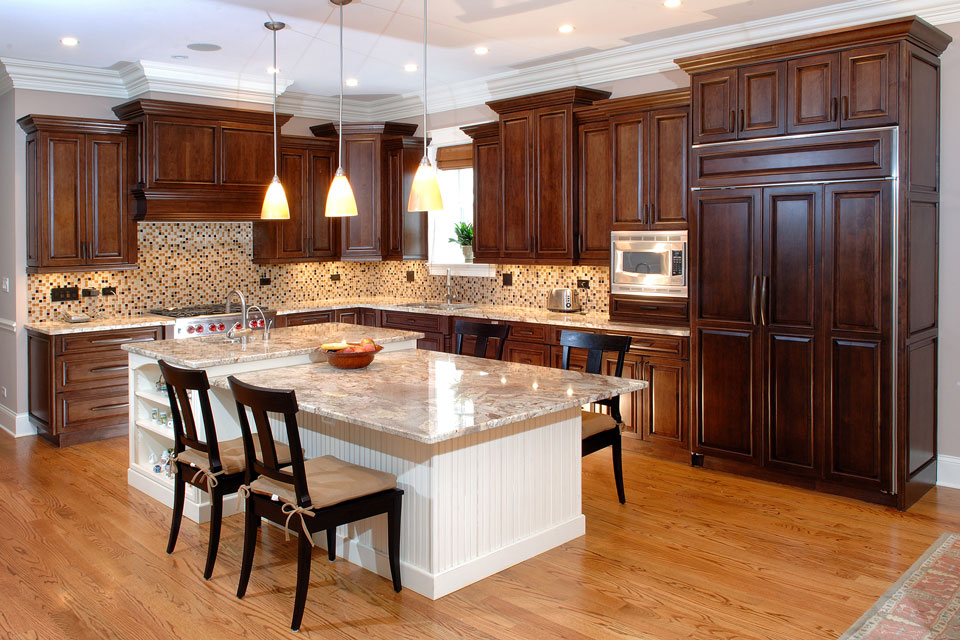 Delicate Custom Made Kitchen Cabinets