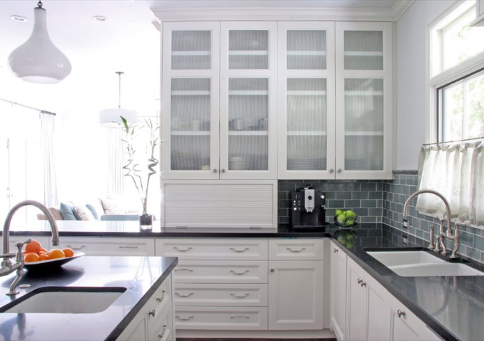 Lovely Glass Door Kitchen Cabinets