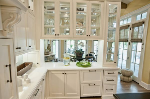 Great Glass Front Kitchen Cabinets