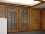 Wood and Glass Kitchen Cabinet
