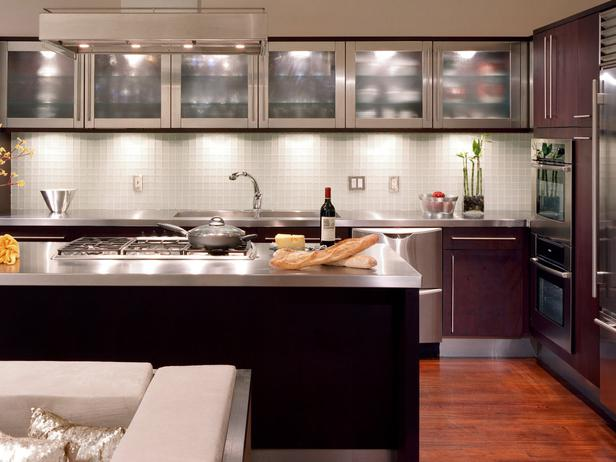 Charming Glass Kitchen Cabinets