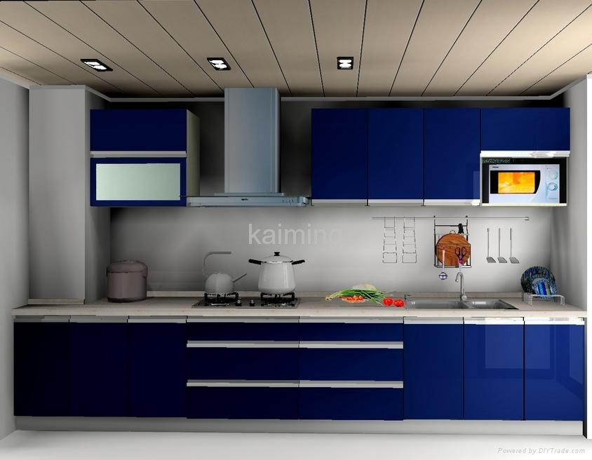 Blue Kitchen Cabinets Doors Only 2016