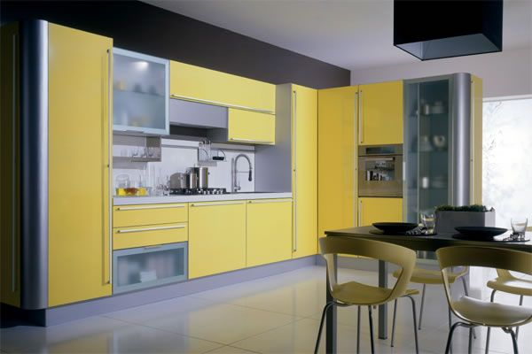 Yellow Kitchen Cupboards