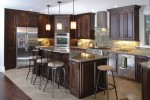 Dark Semi Custom Kitchen Cabinets