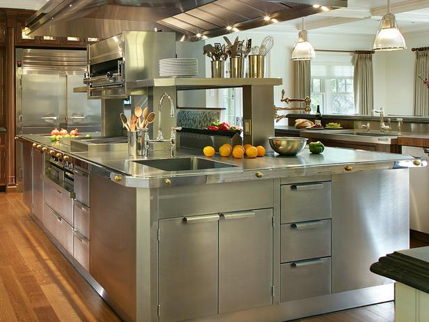 Delightful Stainless Steel Kitchen Cabinets