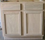 Neat Unfinished Kitchen Cabinets