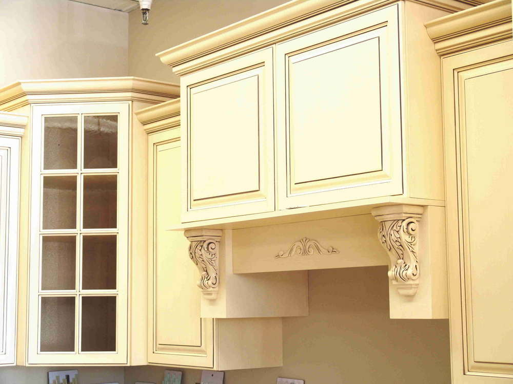 Cream Used Kitchen Cabinets For Sale