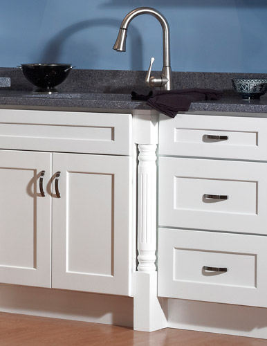 Lovely White Wood Kitchen Cabinets