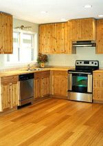Delicate Bamboo Kitchen Cabinets