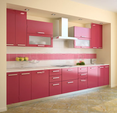 Pink kitchen cabinet designs 2016 for Kitchen cupboard designs images