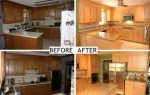 Before & After Kitchen Cabinet Refacing