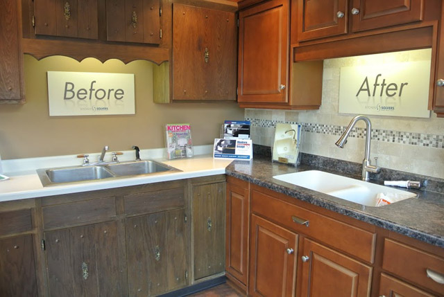 Cool Refinish Kitchen Cabinets