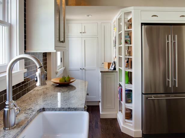 Interesting Tall Kitchen Cabinets