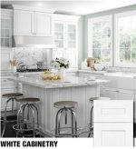 Assembled White Cabinets