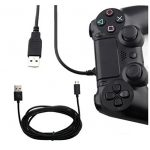Iuhan Long Micro USB Charge Charging 3 Meter Power Cable For PS4 Xbox One Controllers (Black)