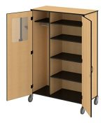 Fleetwood 15.5018.1HU.000-etchgry Sheerline Standard Teacher Cabinet with 5 Adjustable Shelves in Etched Gray Laminate