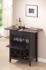 Acme 12240 Leo Wine Bar Cabinet Set, Wenge Finish