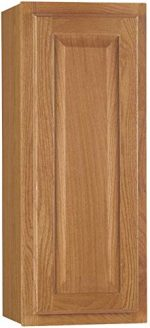CONTINENTAL CABINETS KITCHEN CABINETS 2478225 Rsi Home Products Hamilton Kitchen Wall Cabinet, Fully Assembled, Raised Panel, Oak, 9X30X12″