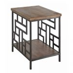 Fairmont Metal and Wood Rectangle End Table