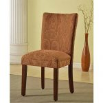 Metro Shop Classic Parson Red/ Gold Damask Fabric Dining Chair