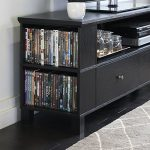 Walker Edison 58″ Black Wood Storage TV Cabinet