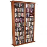 Venture Horizon Media Storage Tower- Tall Double- Cherry