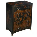 EXP Handmade Oriental Furniture 42-inch Antique Style Black Dresser