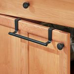 mDesign Over-the-Cabinet Towel Bar Holder for Bathroom or Kitchen – 9″, Matte Black