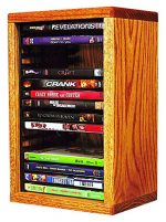 The Wood Shed 110-1 DVD Solid Oak DVD Storage Cabinet, Honey