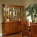 Amanda Home Dining Collection Heartland Manor Solid Oak Buffet Table with Hutch