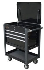 Homak H2PRO BK06032000 35-Inch Professional 4  Drawer Service Cart, Black