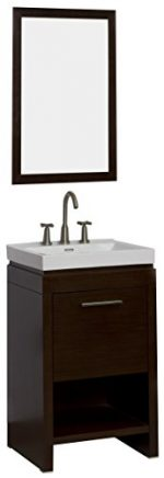 American Imaginations AI-2-1162 Modern Plywood-Melamine Vanity Set, 21.5-Inch x 18-Inch, Wenge Finish