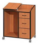 Fleetwood 17.9041.223.000-fsnmple Instructern Cabinet with 2 Non-Locking File Drawers & 1 Box Drawer in Fusion Maple Laminate