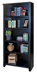 kathy ireland Home by Martin Tribeca Loft Black Bookcase, 70″ – Fully Assembled