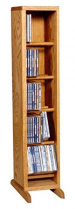 The Wood Shed 506 C Solid Oak CD Cabinet, Clear