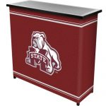 NCAA Mississippi State University Two Shelf Portable Bar with Case