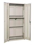 Datum Storage AWC84H24R-WS56 Argos Hinged Door Weapons Cabinet Holds 24 Rifles, 84″, Desert Sand