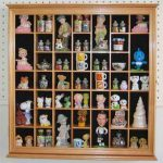 Collectible Display Case Wall Curio Cabinet Shadow Box, with glass door, CDSC03-OA