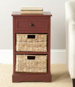 Safavieh American Homes Collection Carrie Side Storage Side Table, Red