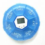 Alice Windowshop Mini Pill Box Portable Pill Organizer with Reminder 4 Group Alarm and Back Light