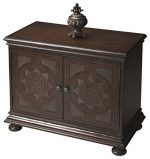 Butler Tarot Traditional Console Cabinet, 36″ x 19″ x 30″, Heritage Finish