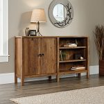Sauder New Grange Console Table in Vintage Oak