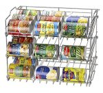 36 Can Rack Holder Organizer Storage Kitchen Shelf Food Pantry Cabinet Cupboard