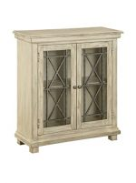 Treasure Trove Accents Two Door Cabinet, 32″ x 12″ x 34″, Ivory