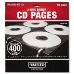 Two-Sided CD Refill Pages for Three-Ring Binder, 50/Pack by IDEASTREAM (Catalog Category: Computer/Supplies & Data Storage / Media Management)