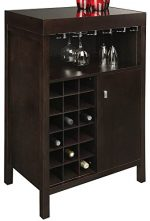 Philmore Wine Bar in Dark Espresso Finish