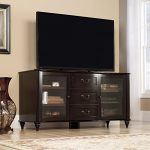 Sauder New Albany Entertainment Credenza in Jamocha Wood