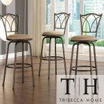 Metro Shop TRIBECCA HOME Avalon Double Cross Swivel Counter Barstool (Set of 3)